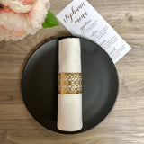 Gold Foil Metallic Laser Cut Napkin Rings