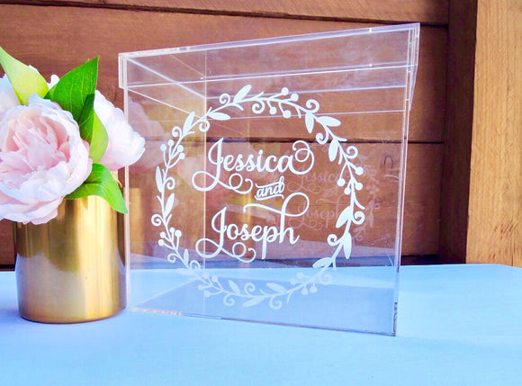 Acrylic Wishing Well Card Box