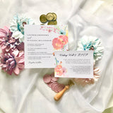 Lauren Rustic Watercolour Flower Wedding Invitation