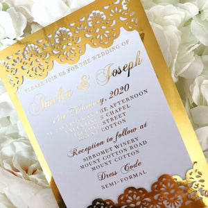 Gold Foil Slide-in Invitation