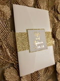 Marble and Gold Foil Pocket Foil Invitation