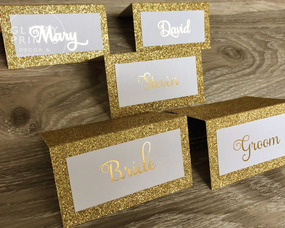 Glitter and Gold Foil Place Cards