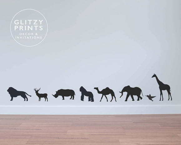 Jungle Animals Mini Wall Decals