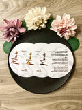 Gold, Rose Gold or Silver Foil Round Marble Menu