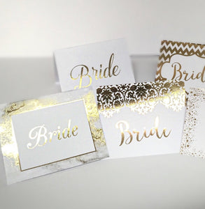 Wedding Place Cards in Real Gold Foil