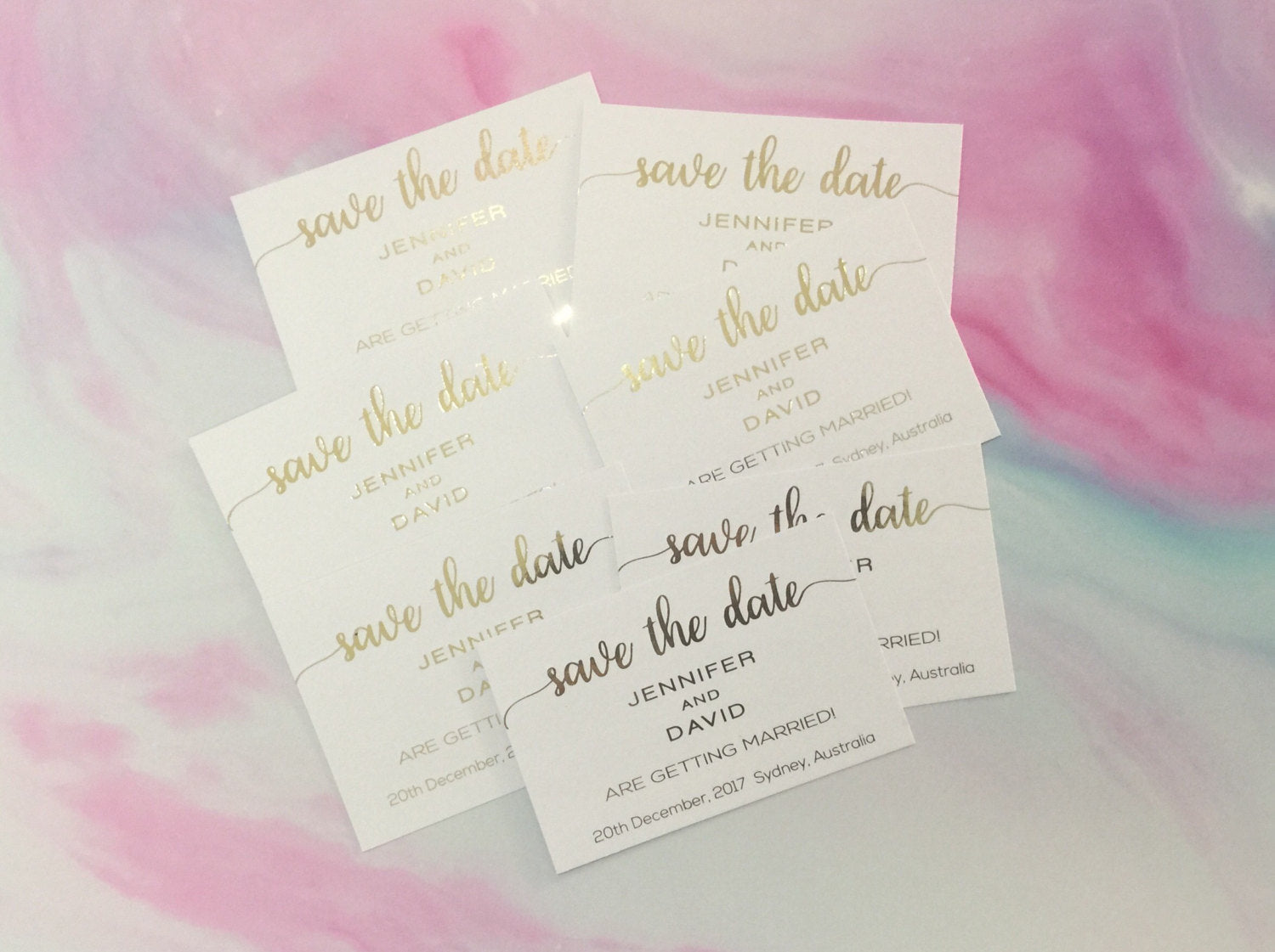 Save the Date Invitation, Gold Foil Invitation, Wedding Invitation ...
