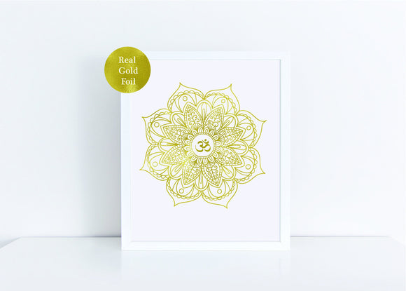 Real gold foil print / wall art gold foil print  8