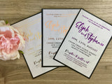 Foil Wedding Invitation