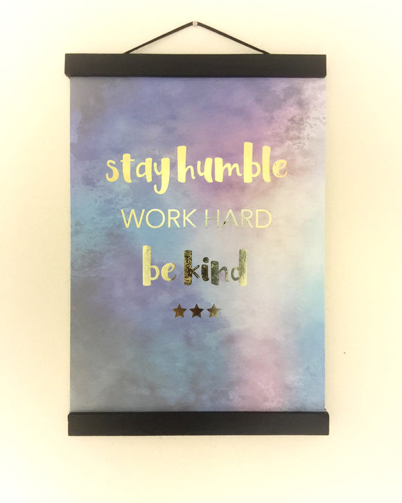 Real Gold Foil Print FREE CUSTOMISATION AVAILABLE - Watercolour print - Inspirational Quote Print - Purple Print - Wall Art Print