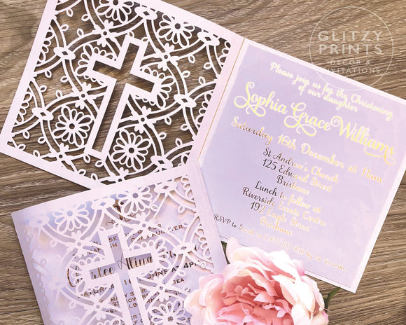Christening Invitation, Baptism Invitation