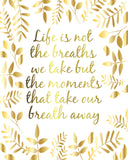 Gold foil quote print