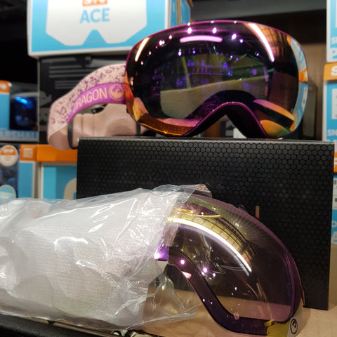 Dragons X2s with bonus lens, dragon goggles - Pink