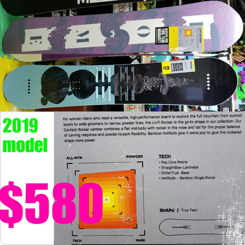 Rome LoFi Rocker Ladies snowboard 2019 model 149cm