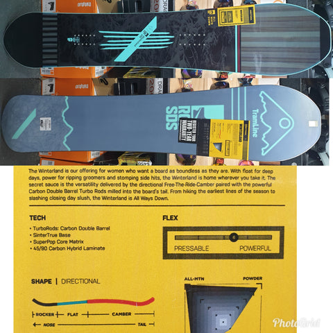 Rome Winterland Ladies snowboard 2020 model 145cm ** Good Wood Winner Best all Mtn **