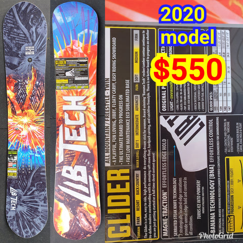 Lib tech Ladies Glider BTX snowboard 147cm 2020 model - skate banana