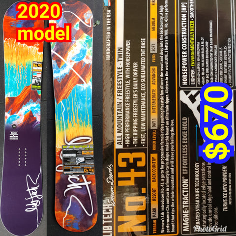 Lib tech Ladies No.43 HP snowboard 149cm 2020 model - T.Rice ladies