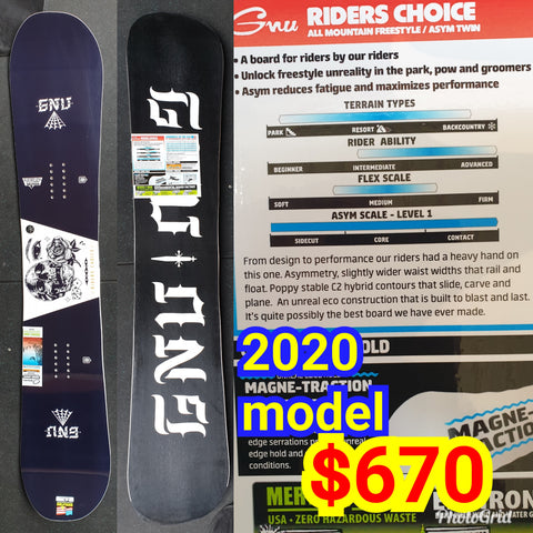 Gnu Rider's Choice  157cm and 161Wide 2019 Model