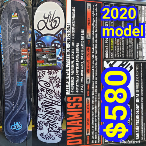 Lib tech Ladies Dynamiss snowboard 153cm 2020 model