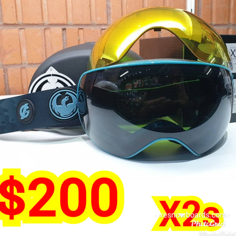 Dragons X2s with bonus lens, dragon goggles - blue GIGI