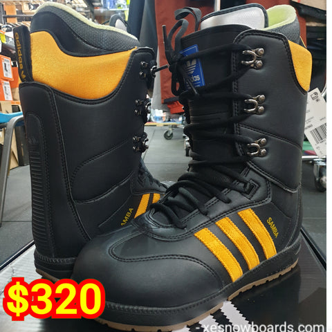 Adidas SAMBAs snowboard boots available in US size US7 US7.5 US8 US9 and US10.5