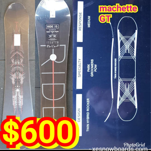 Ride Machete GT 161cm 2019 model   ** MY TOP PICK for carvers **