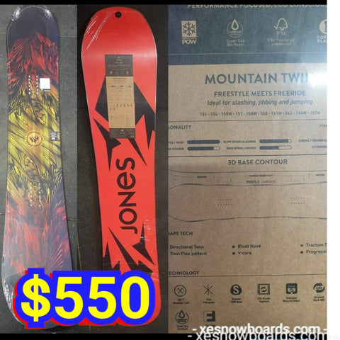 Jones Mountain Twin 162cm 2020 model