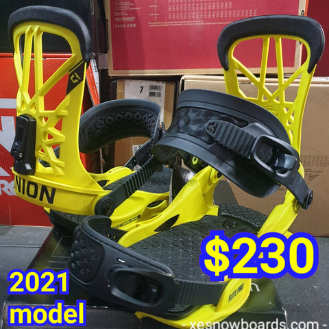 UNION Flite PRO 2021 model Men's bindings - yellow coloour