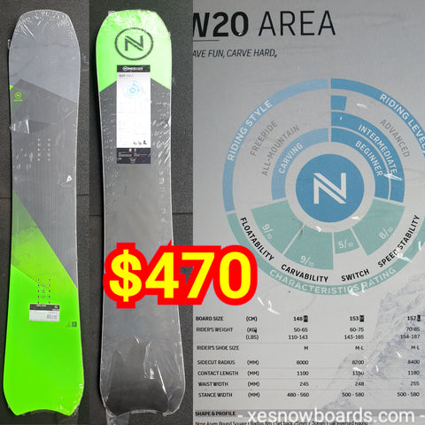 Nidecker AREA 153cm 2020 model