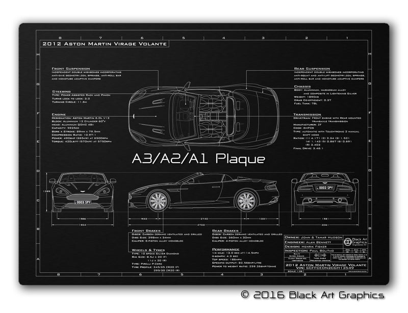 Vehicle Blueprint (New) - 2011-2012 Virage