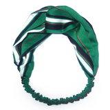 Hair Décor Green Stripe Twist Front Retro Headband