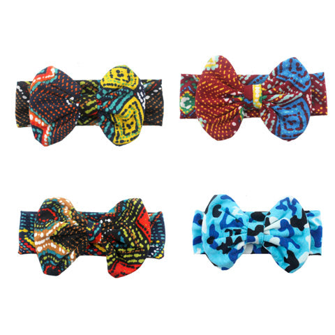 Hair Décor Kids Bow Soft Cotton Stretchy Headband