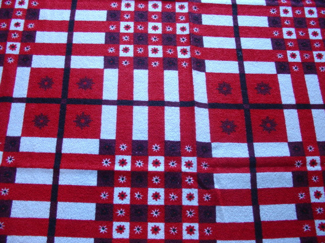 TERRY Red Plaid MWT Novelty Vintage Printed Tablecloth (70 X 52 unmeasured)
