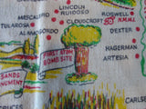 Cartoon New Mexico State Souvenir Vintage Printed Tablecloth (38 X 31)