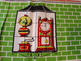 Colonial Stuff Windows Novelty MWT Vintage Printed Tablecloth (52 X 52 per label)