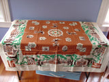 Unwashed Bookbinders Philadelphia Pennsylvania Souvenir Vintage Printed Tablecloth (51 X 50)