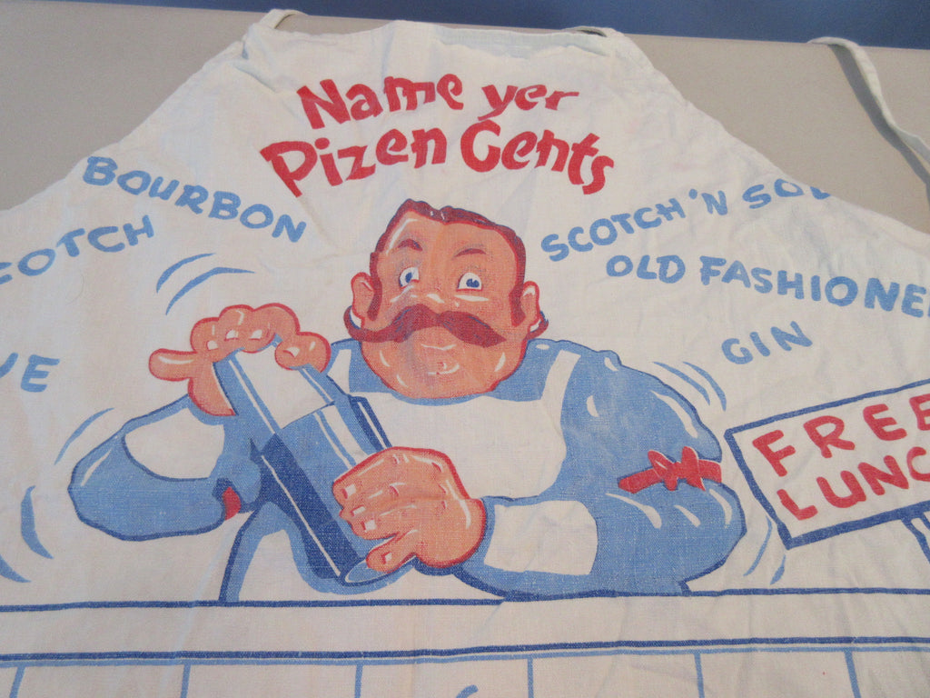Name Your Pizen Drinking Cocktails BBQ Barbecue Apron Vintage Printed
