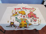 Unwashed The Chef Sad Sack BBQ Barbecue Apron Vintage Printed