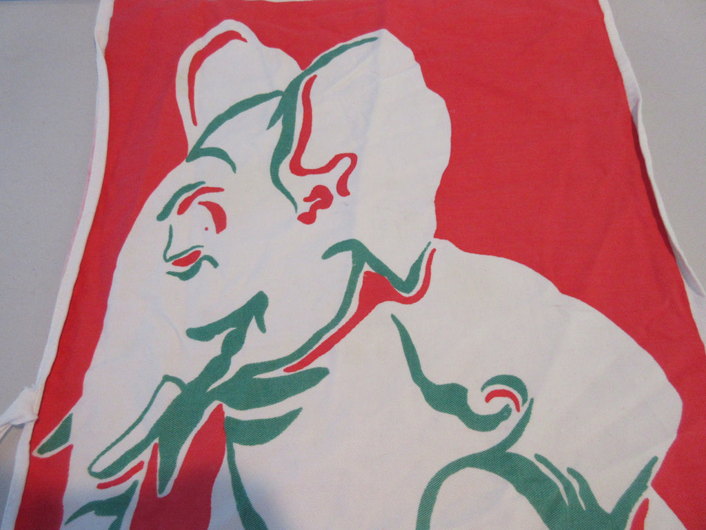 Dewan Elephant Bottle Unusual Cartoon BBQ Barbecue Apron Vintage Printed