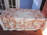 Damaged Rare Tropical Fish Plants Novelty Vintage Printed Tablecloth (52 X 48)