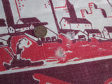 Rare Damaged NYC New York City Souvenir Vintage Printed Tablecloth (52 X 48)