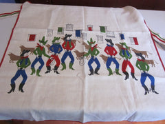 Rare Ivan Bartlett Cowboys Vintage Barbeque Apron (37 long X 27 excluding ties)