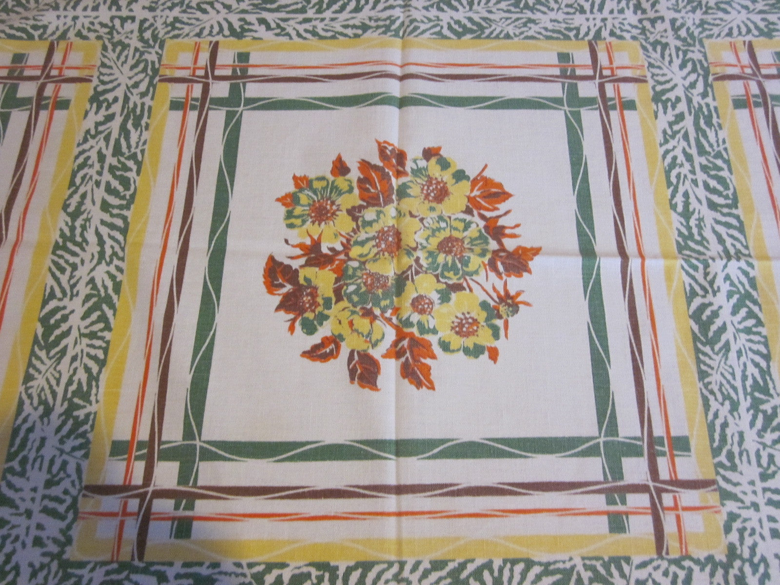Fall Floral Plaid Napkins Novelty Vintage Printed Tablecloth (49 X 47)