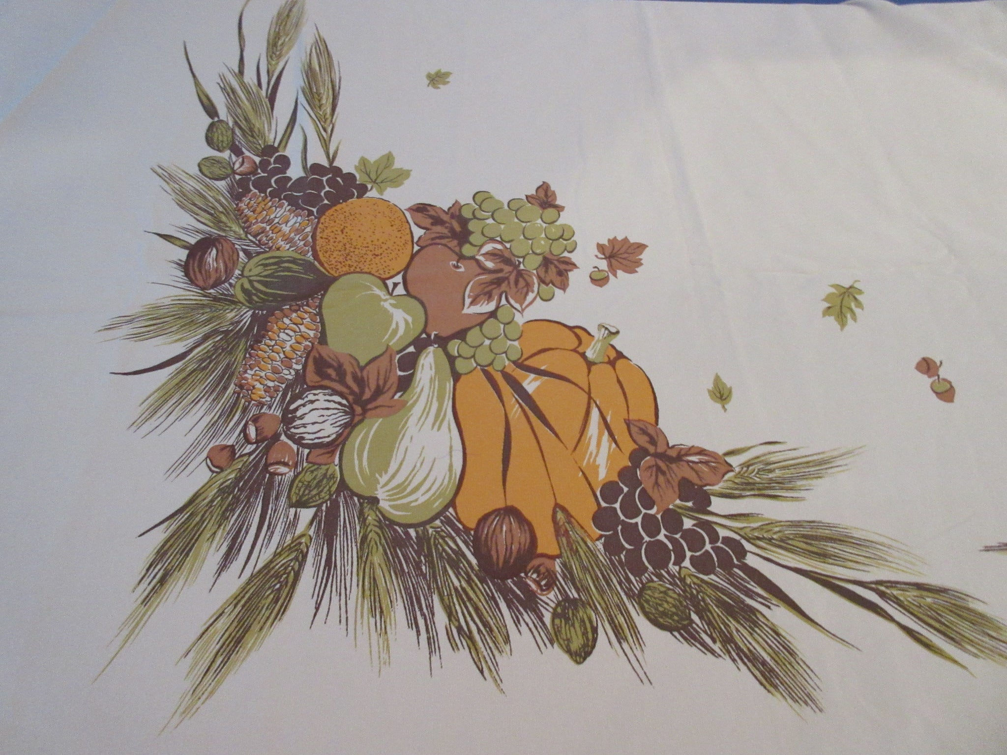 CHP Pumpkins Gourds Fall Autumn Novelty Vintage Printed Tablecloth (83 X 60)