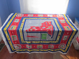 Rare NYWF New York Souvenir Tom Lamb Novelty Vintage Printed Tablecloth (51 X 50)