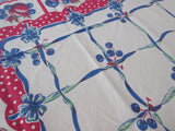 Primary Fruit and Polkadots Food Vintage Printed Tablecloth (60 X 40)