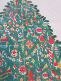 HTF Edward Smith Primary Christmas TLC Vintage Printed Tablecloth (63 X 53)
