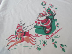 Banquet Unusual Santa Sleigh Christmas Vintage Printed Tablecloth (93 X 57)