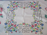 Diet Poem by Marge Primary CUTTER Novelty Vintage Printed Tablecloth (49 X 46)