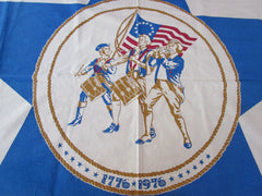 Rare Bicentennial Patriotic Unwashed Novelty Vintage Printed Tablecloth (58 X 57)