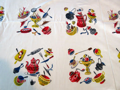 Kitchen Items Array Napkins Novelty Vintage Printed Tablecloth (54 X 49)